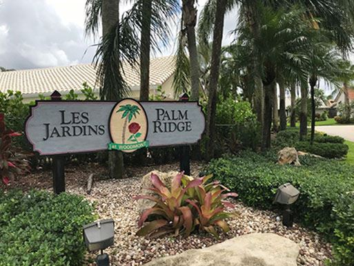 Les Jardins Palm Ridge Neighborhood Sign