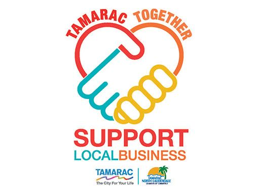 Tamarac Together Support Local Business Campaign logo