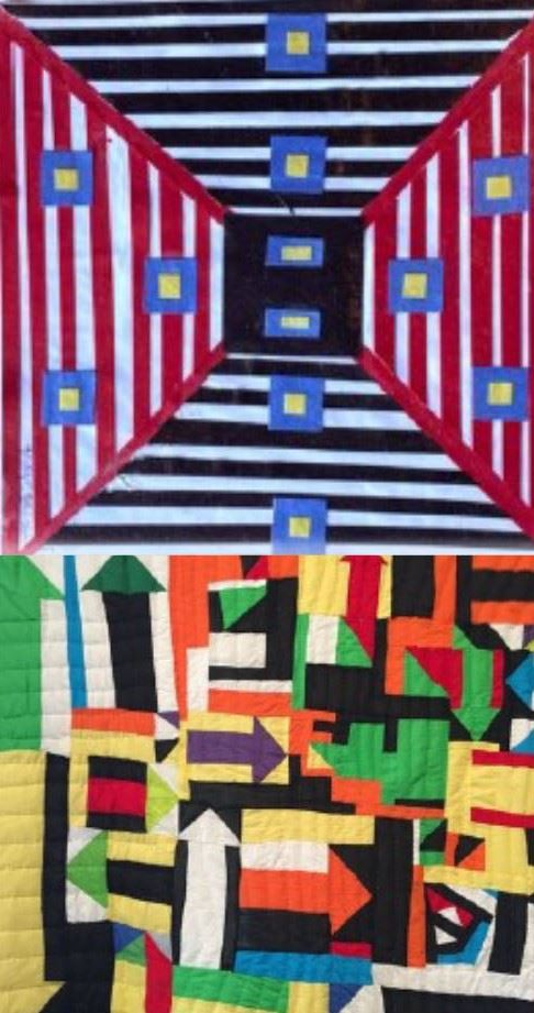 Image of two quilts to accompany story about how the underground railroad used quilts to communicate