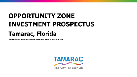 Opportunity Zone Prospectus Cover Page